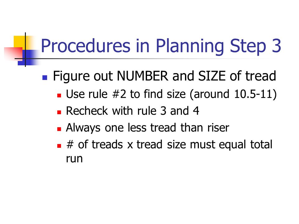 Procedures in Planning Step 3