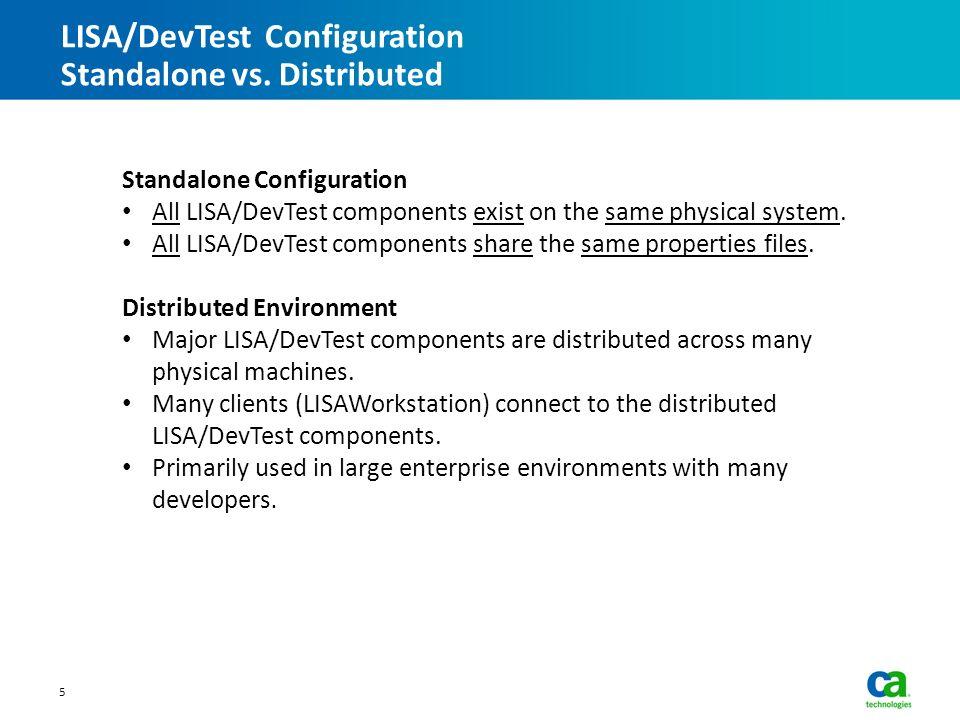Lisa devtest alm integration ppt video online download for Distributed configuration