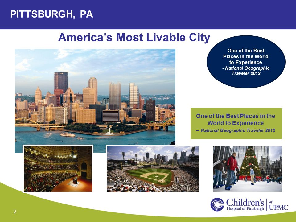 pittsburgh the most livable city Melbourne is the world's most livable city for the second year in a row, according to the economist intelligence unit's (eiu) global livability survey the top cities remained the same as last year pittsburgh, united states 31.