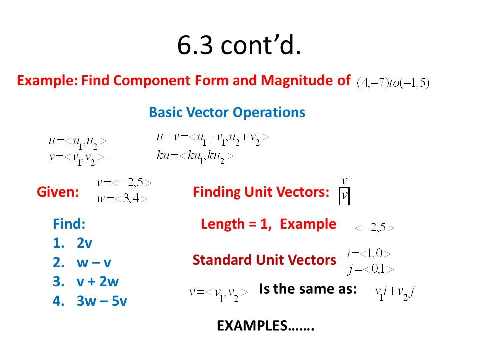 Chapter – 6.5 Vectors. - ppt video online download