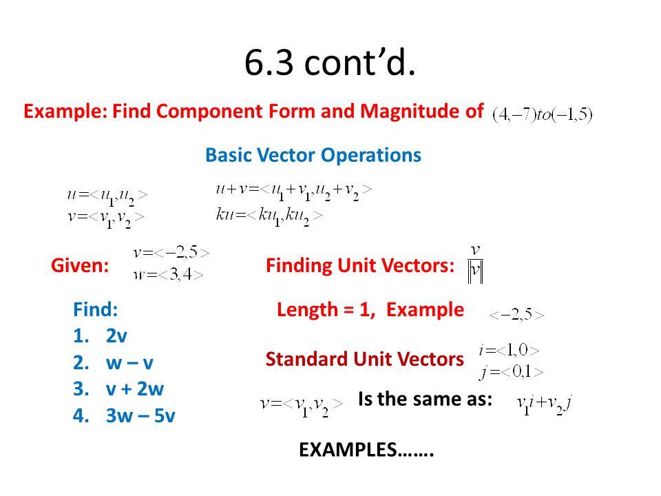 Parallel vectors on calculator