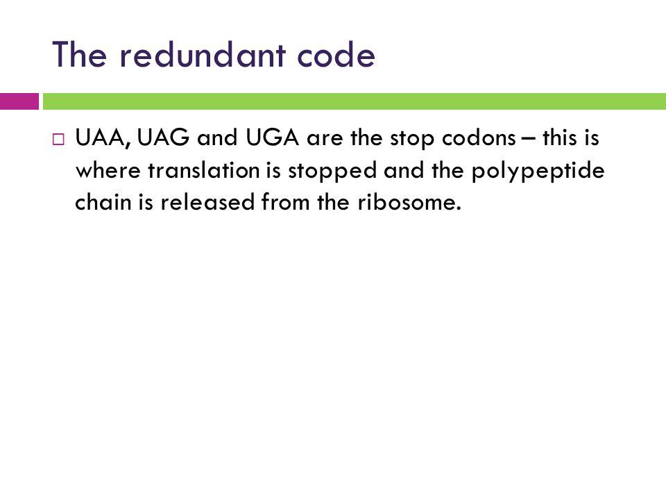The redundant code