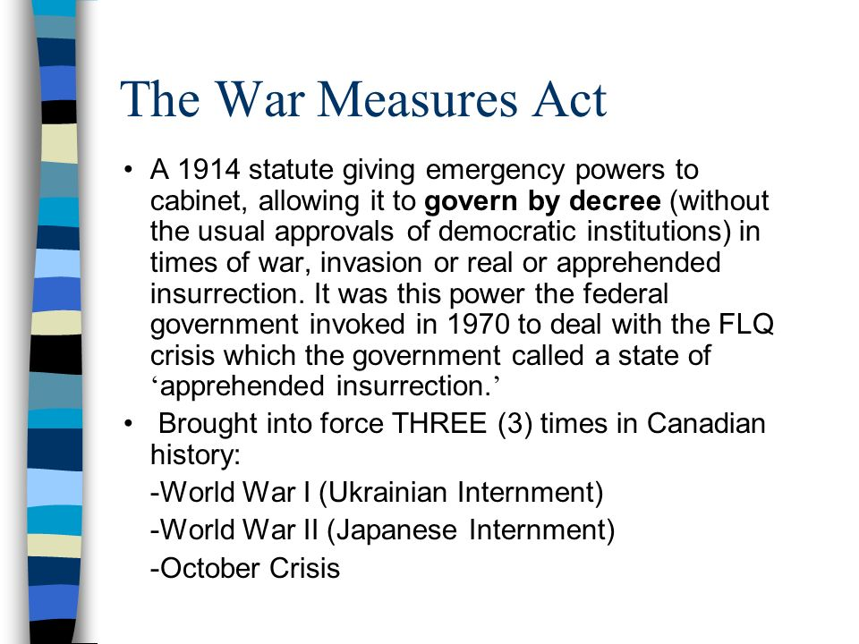 pierre trudeau war measures act essay The consequences of the war measures act during the octobre 1970  as well,  such as flq, october crisis, war measures act, pierre trudeau, and bourassa   the results were more specific, and better suited the requirements for this essay.