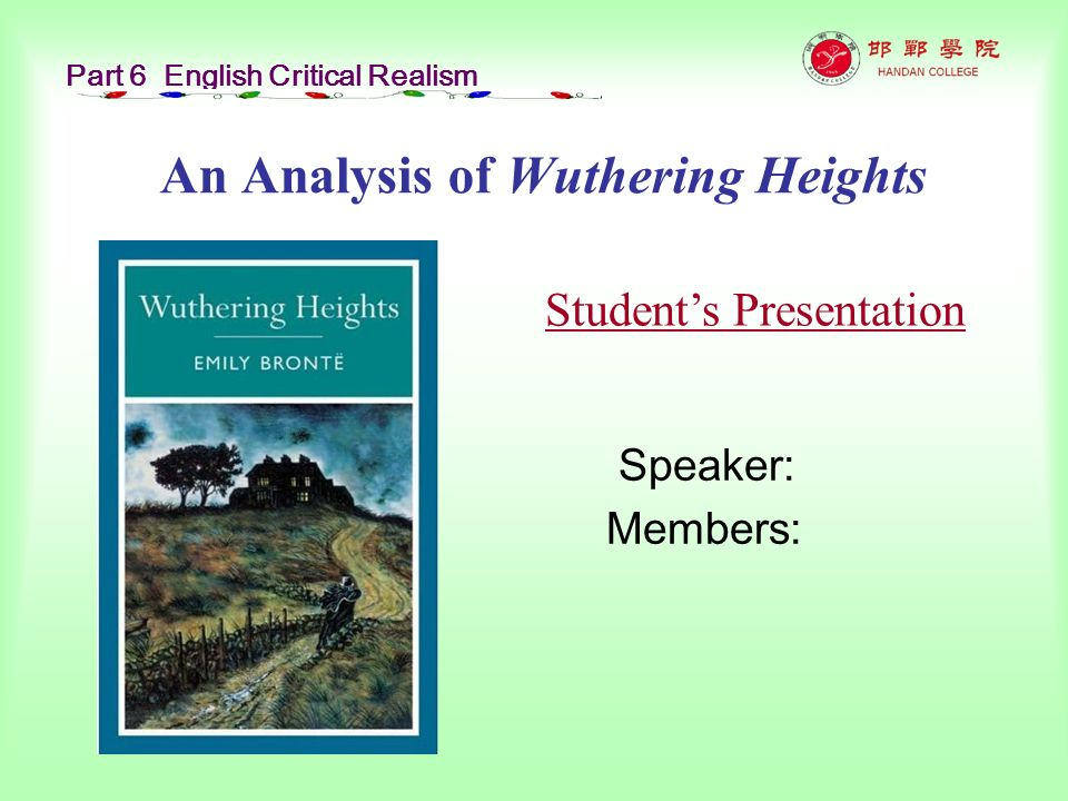 character analysis of heathcliff and catherine in wuthering heights by emily bronte Wuthering heights by emily bronte mr heathcliff, the master of wuthering heights and bronte' s descriptions and strong characters draw you in.