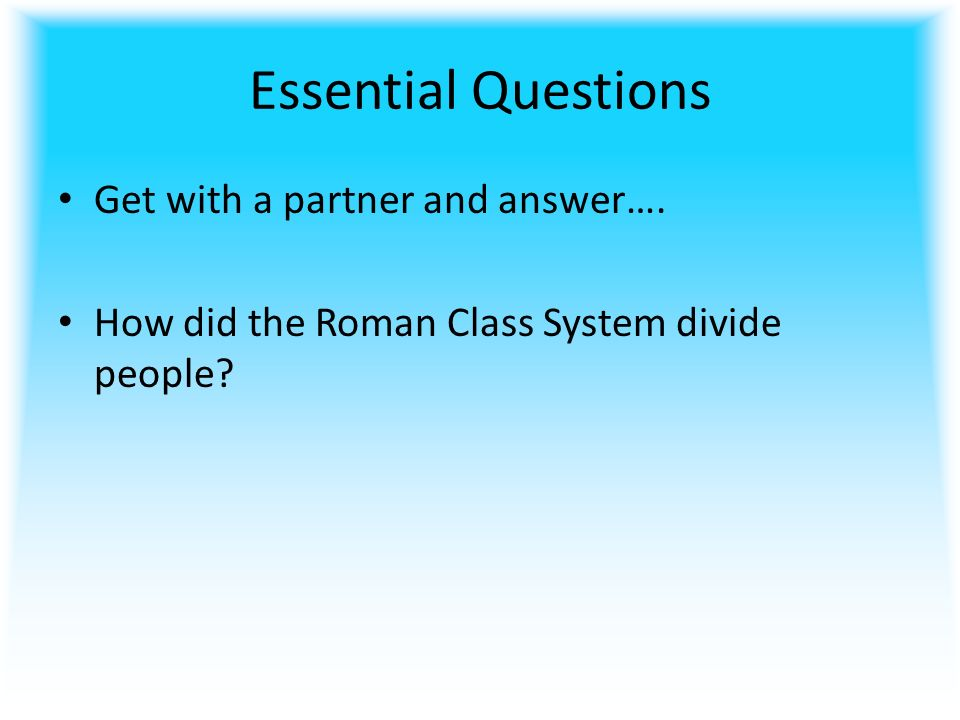 roman class system Equestrian class/ equites: the economic class was considered in this category among the ancient roman hierarchy this class was below the senatorial class and they were bound to perform the tasks which were prohibited for the senatorial class to do.