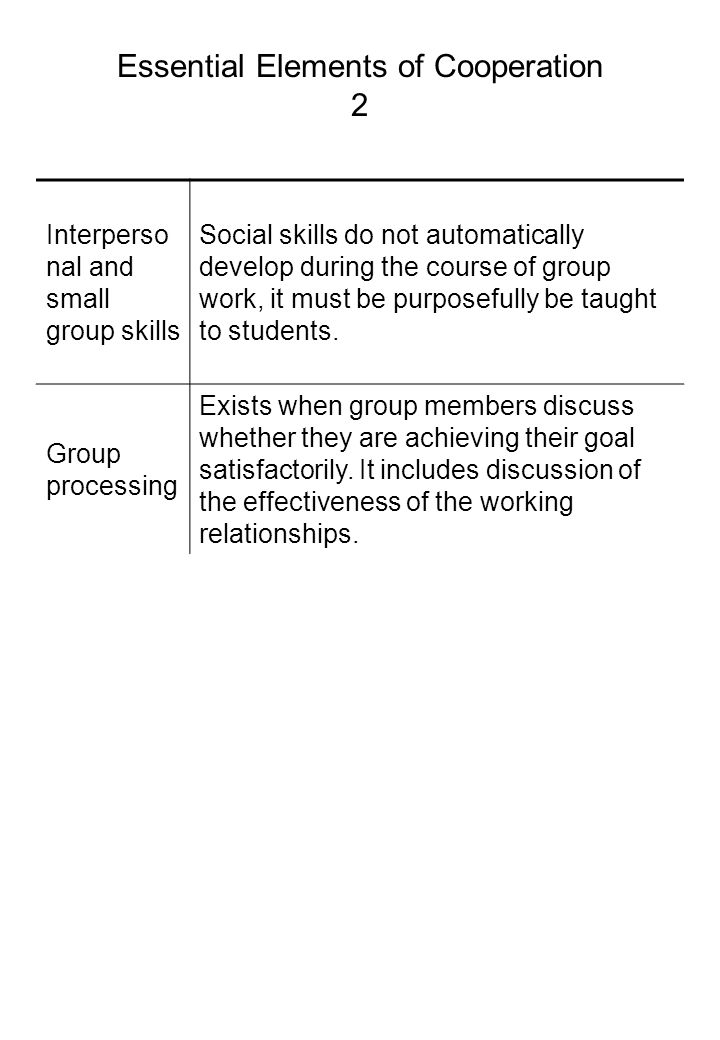 Essential Elements of Cooperation 2