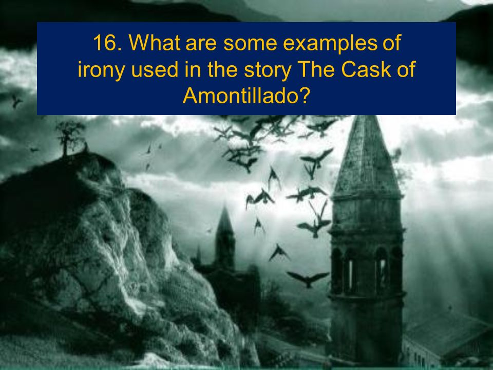 examples of symbolism in the cask of amontillado