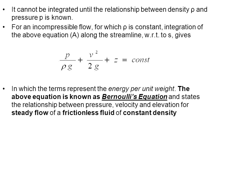 relationship between pressure and velocity of a fluid