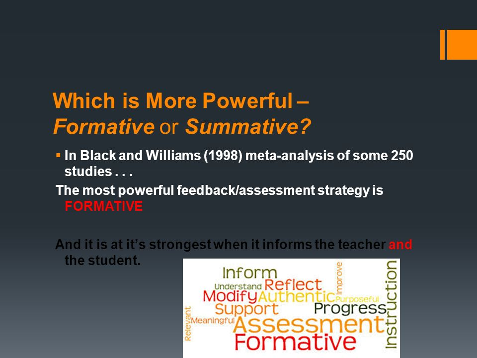 analysis of initial formative and summative assessment • when 80% of the class has a 3 or 4, the class is ready for a summative assessment iwla handouts- formative assessment in the foreign language classroom.