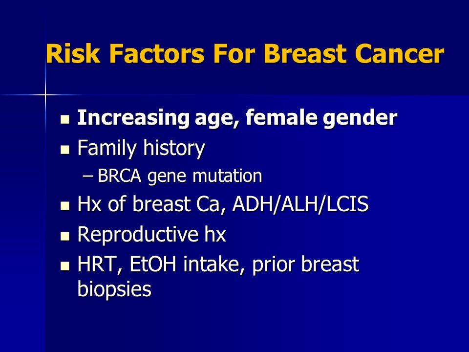 Danger of biopsy for breast cancer