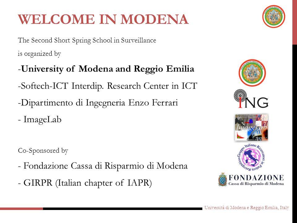 Welcome in Modena -University of Modena and Reggio Emilia