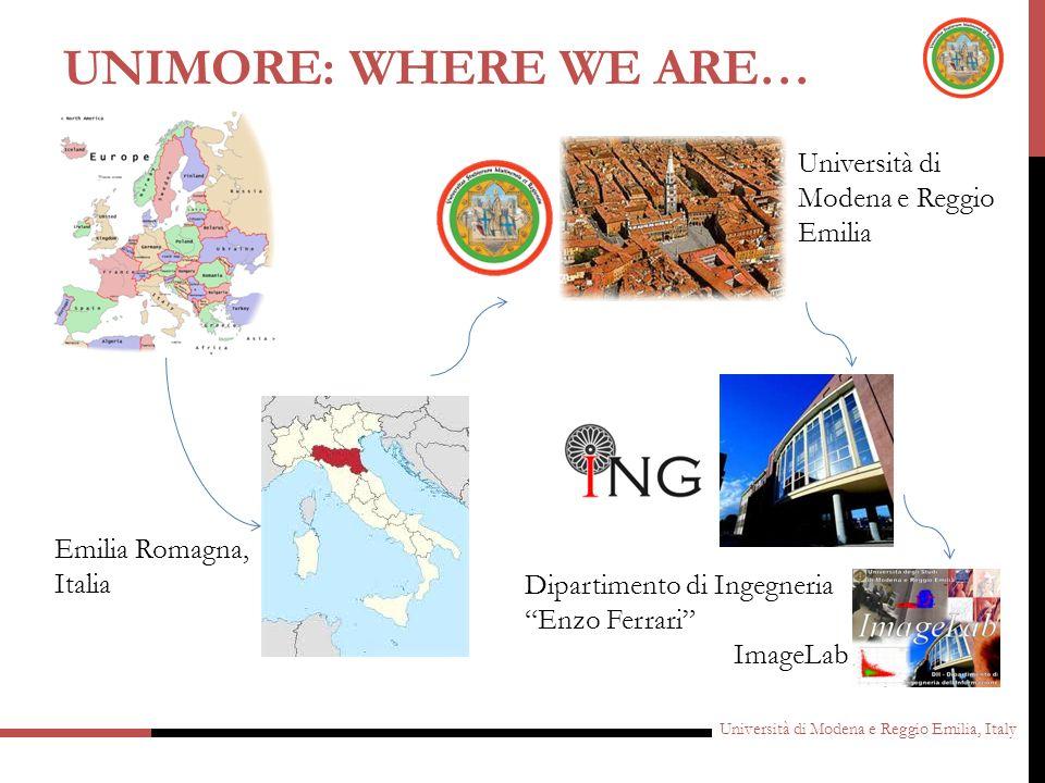 UNIMORE: Where we are… Università di Modena e Reggio Emilia
