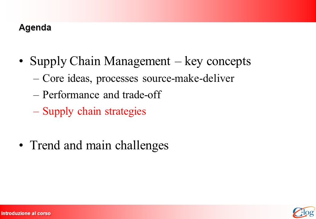 Supply Chain Management – key concepts