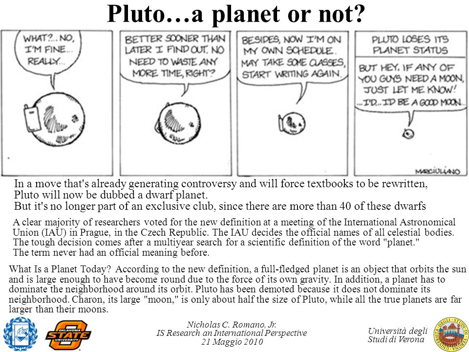 Pluto…a planet or not