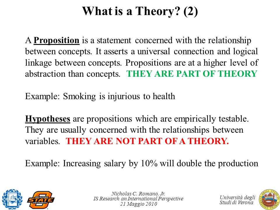 What is a Theory (2)