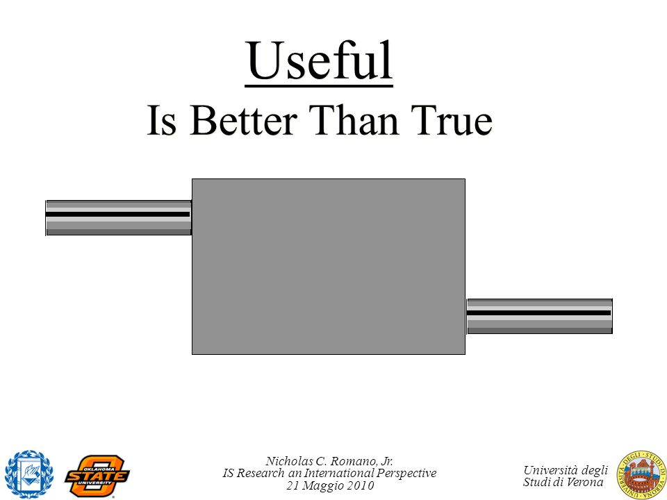 Useful Is Better Than True