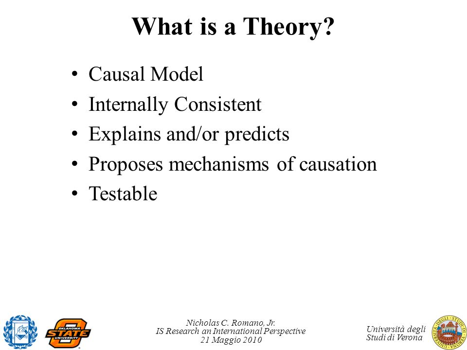 What is a Theory Causal Model Internally Consistent