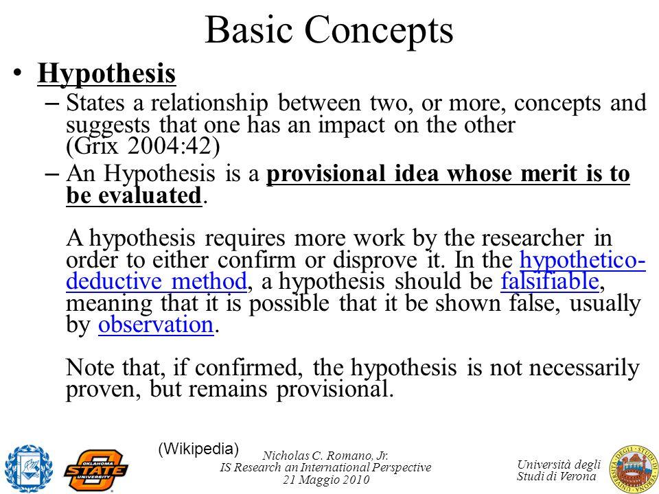 Basic Concepts Hypothesis