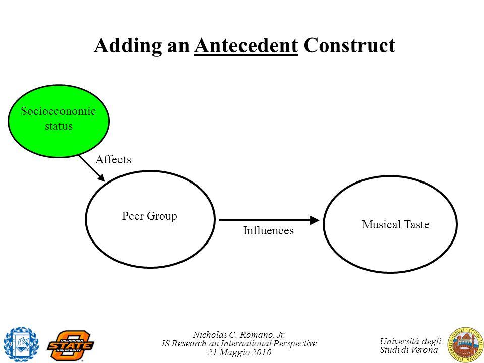 Adding an Antecedent Construct