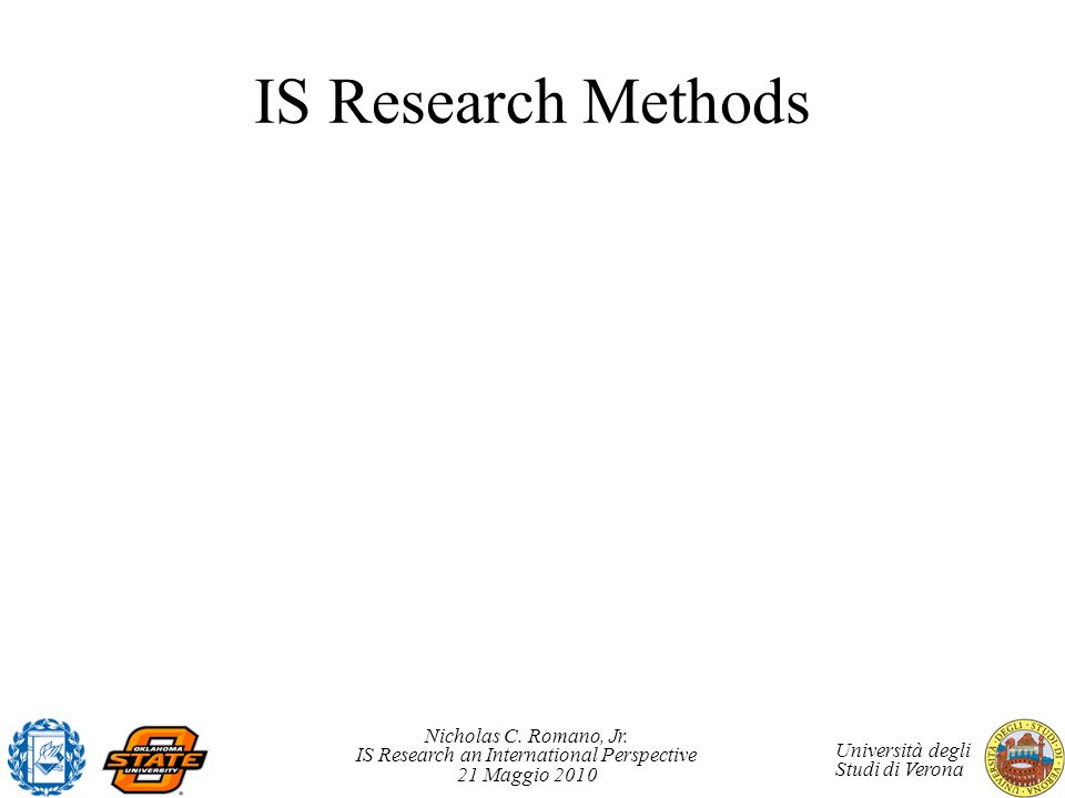 IS Research Methods