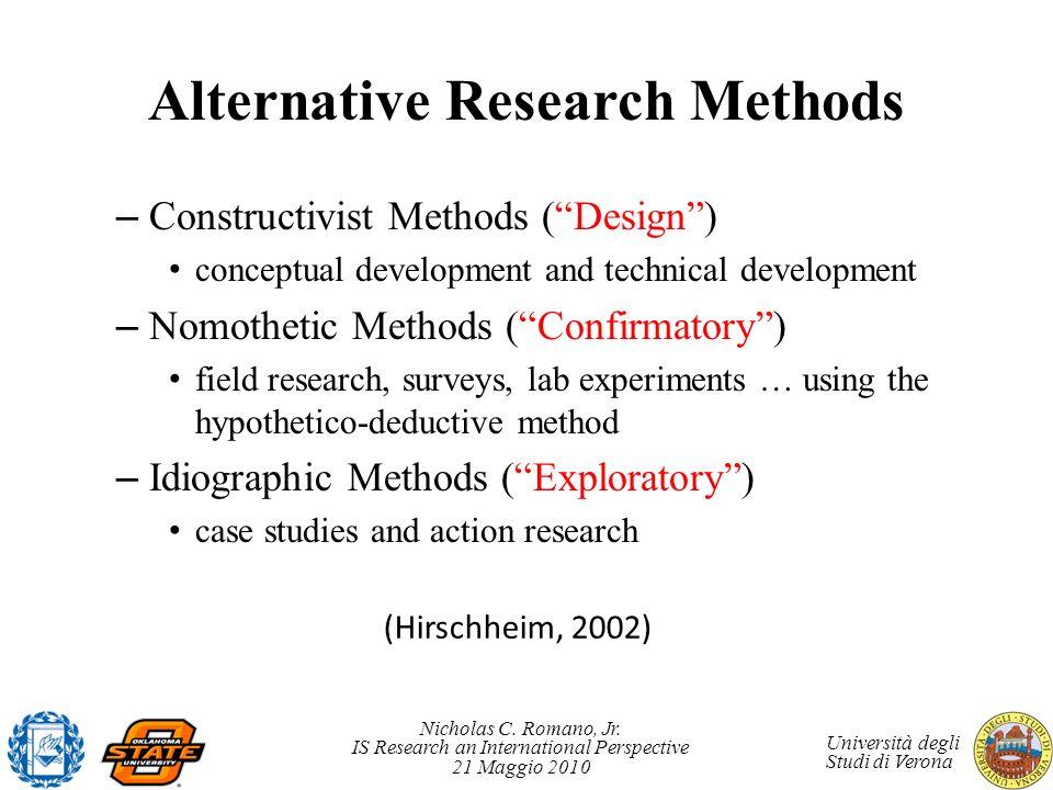 Alternative Research Methods