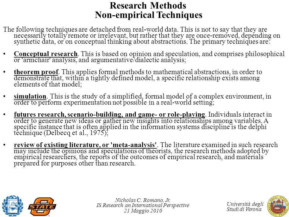 Research Methods Non-empirical Techniques