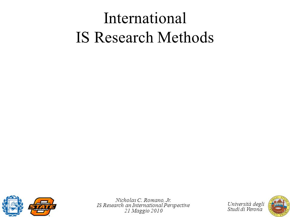 International IS Research Methods