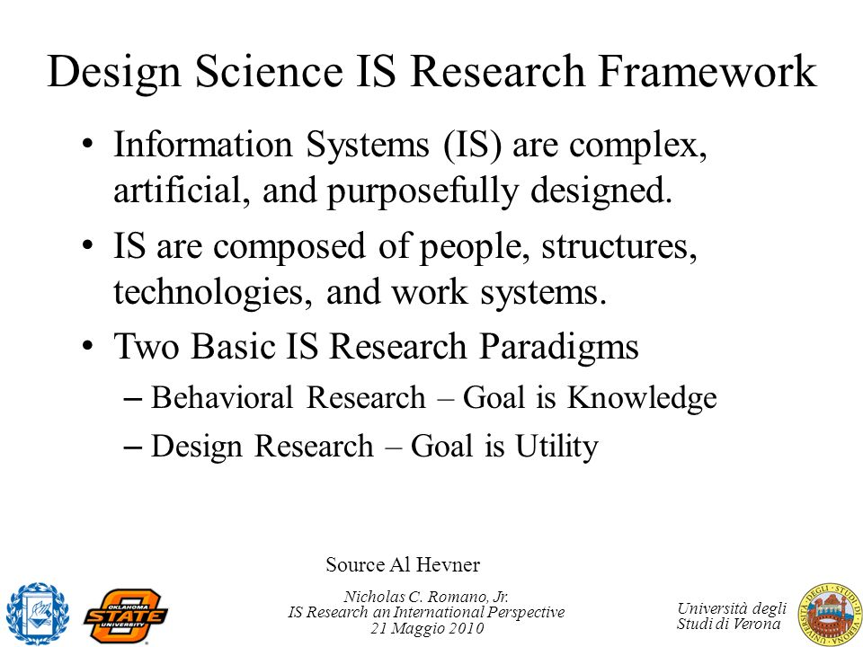 Design Science IS Research Framework