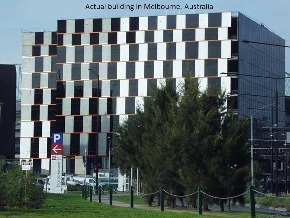 Actual building in Melbourne, Australia