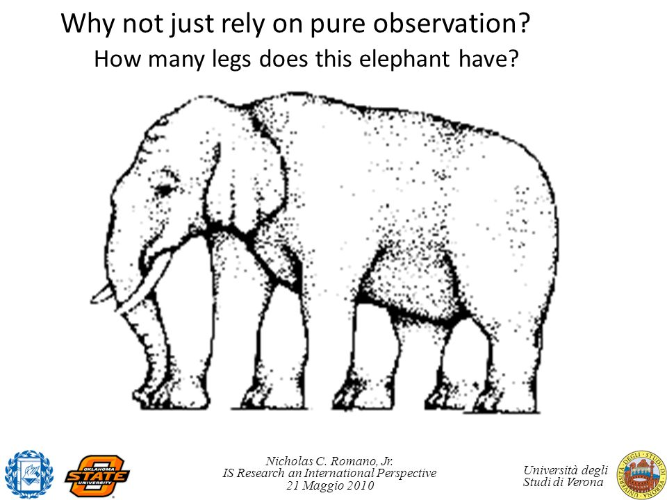 Why not just rely on pure observation