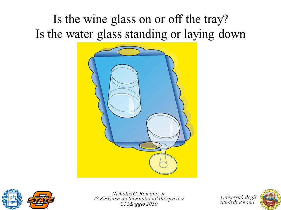 Is the wine glass on or off the tray