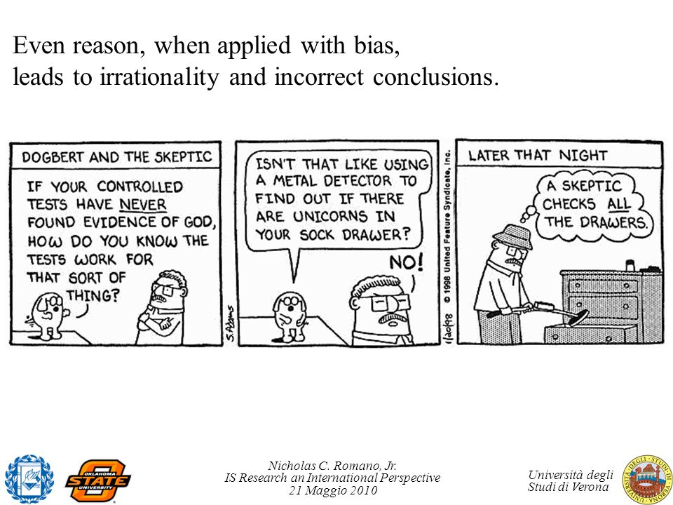 Even reason, when applied with bias,
