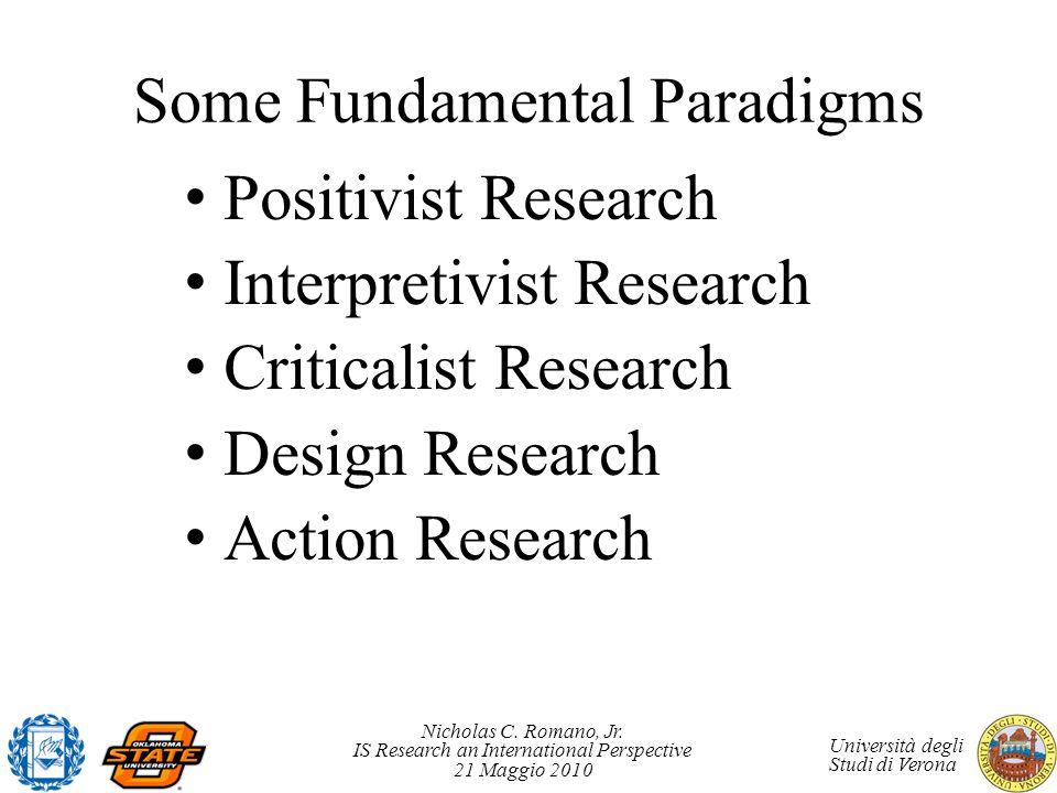 Some Fundamental Paradigms