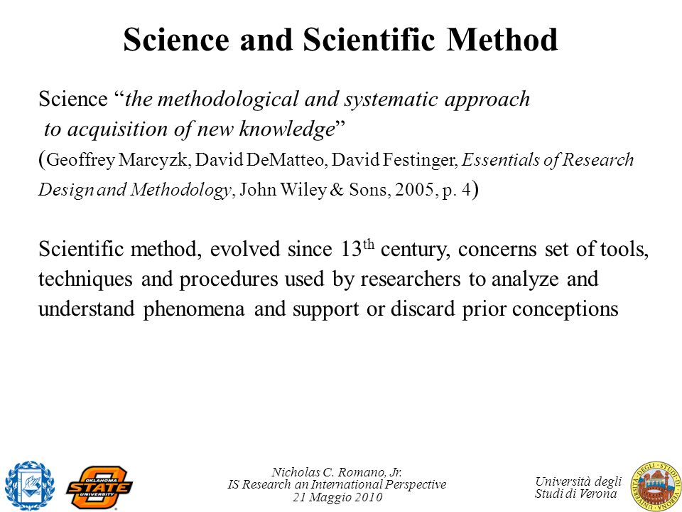 Science and Scientific Method
