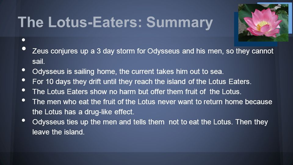 The Lotus Eaters And The Cyclops Ppt Video Online Download