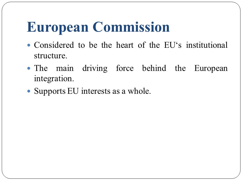 the role of the commission and european court of justice in the integration of europe Ever closer union in the eu treaties and court of justice  the european community contained the  the peoples of europe at the eu court of justice.