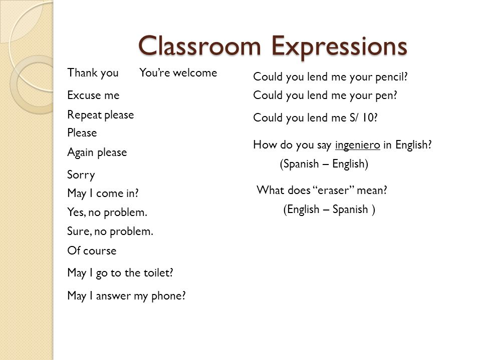 3 Classroom Expressions. COSAPI ENGLISH TRAINING PROGRAM   ppt video online download