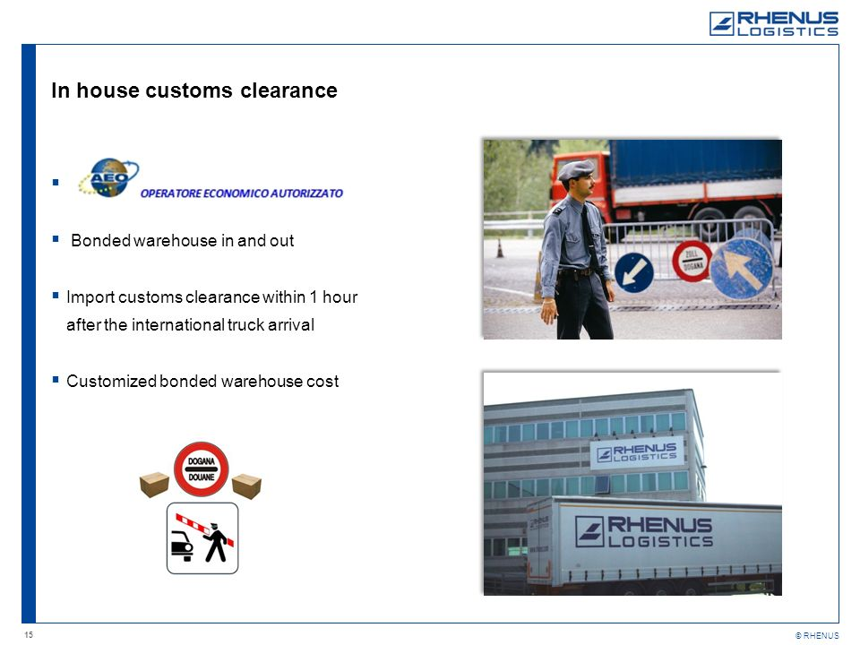 In house customs clearance