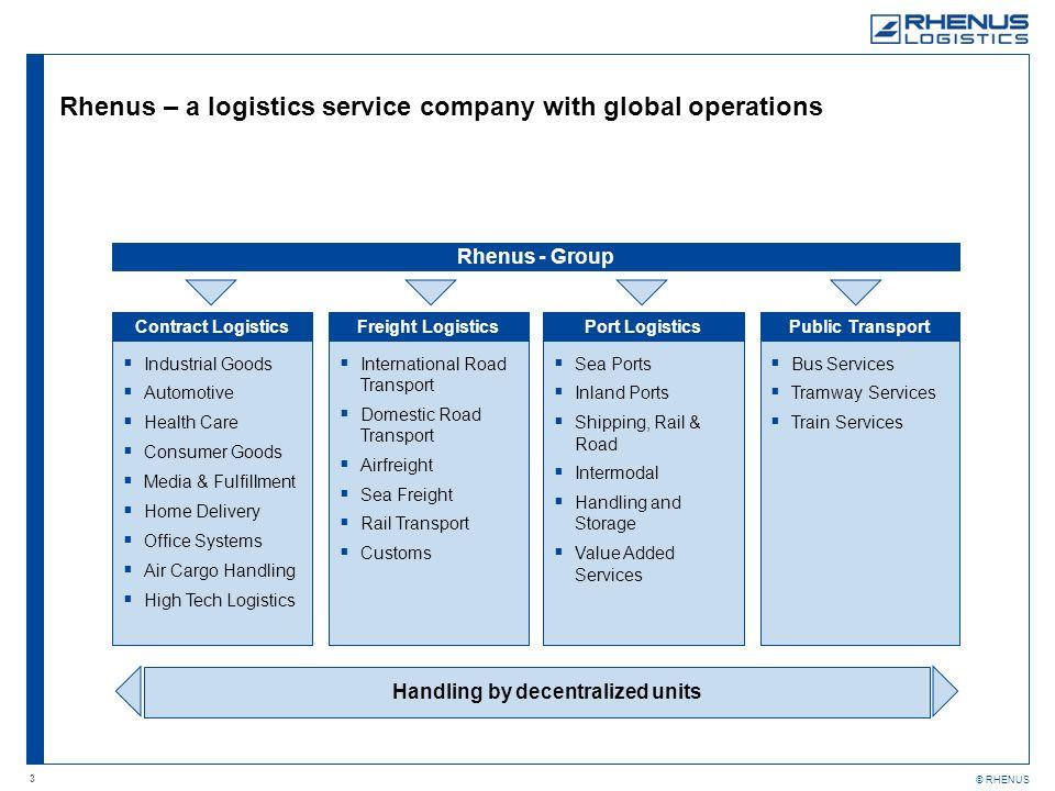 Rhenus – a logistics service company with global operations