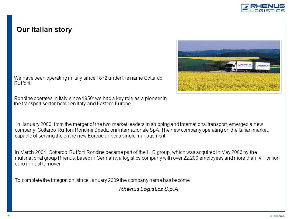 Our Italian story Rhenus Logistics S.p.A.