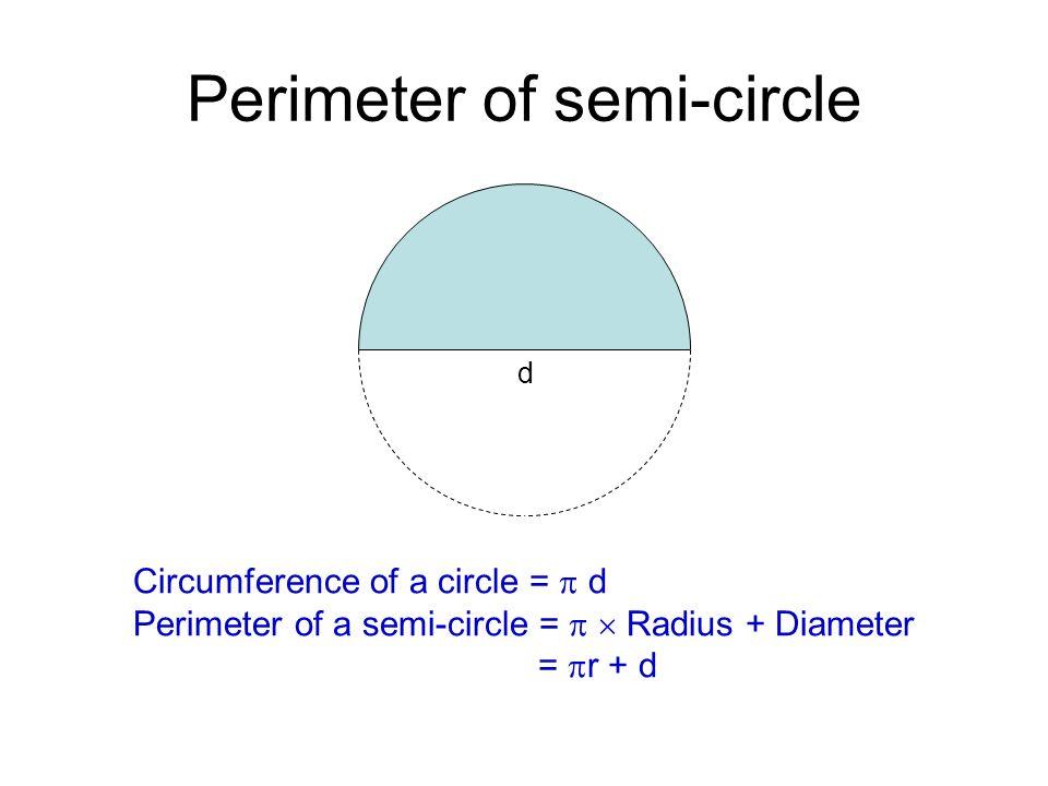 Circles ppt video online download perimeter of semi circle ccuart Gallery