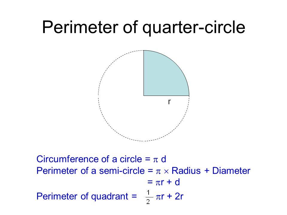 Circles ppt video online download perimeter of quarter circle ccuart Gallery