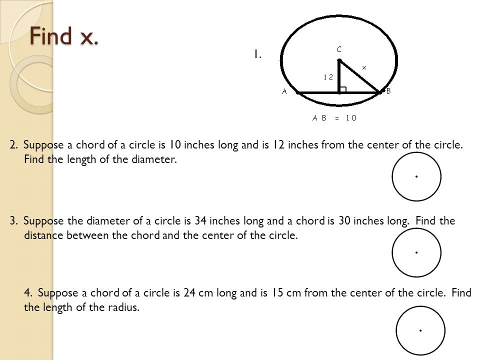 Circles review worksheet answers