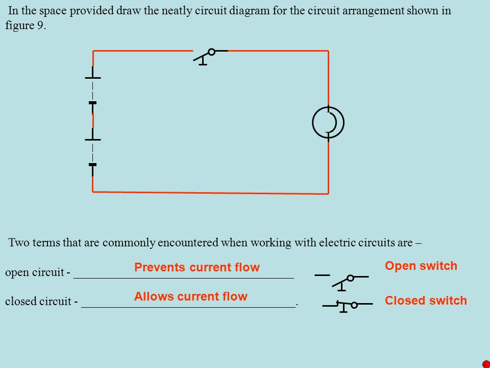 how to draw a closed switch in a circuit