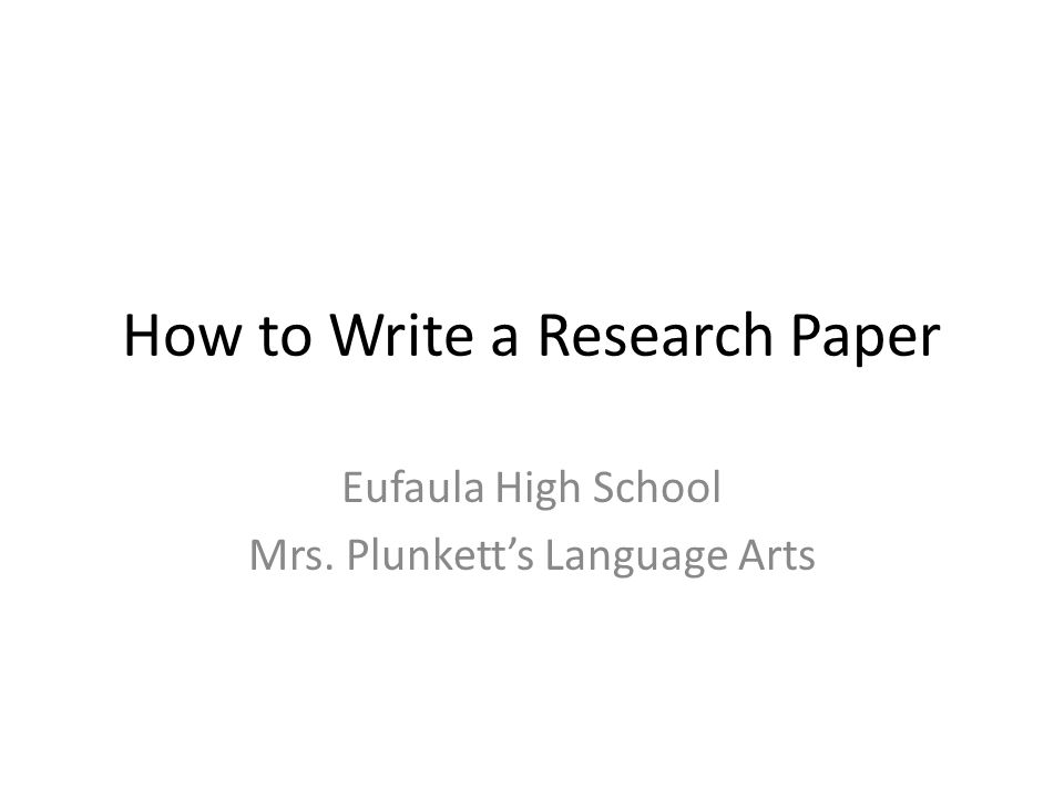 How to write a humanities paper