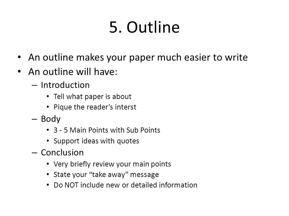 in paper research steps writing