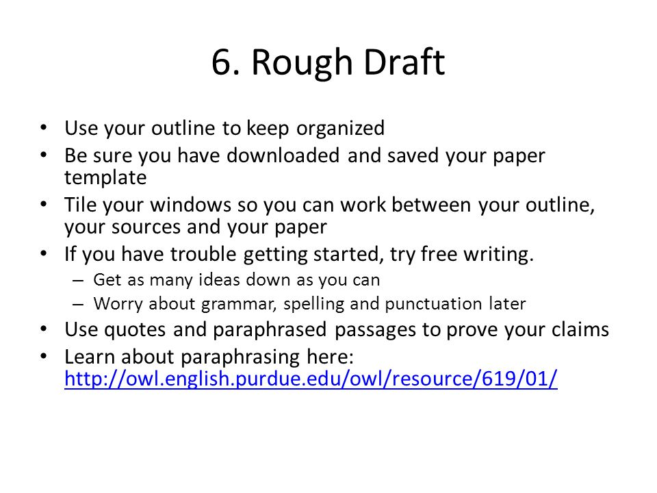 english research paper outlines
