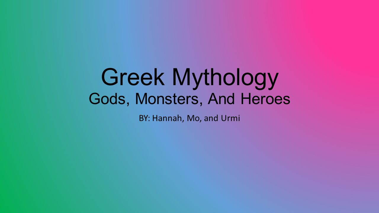Greek Mythology Gods Monsters And Heroes Ppt Video