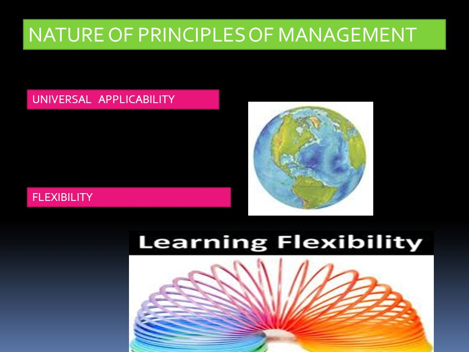 NATURE OF PRINCIPLES OF MANAGEMENT