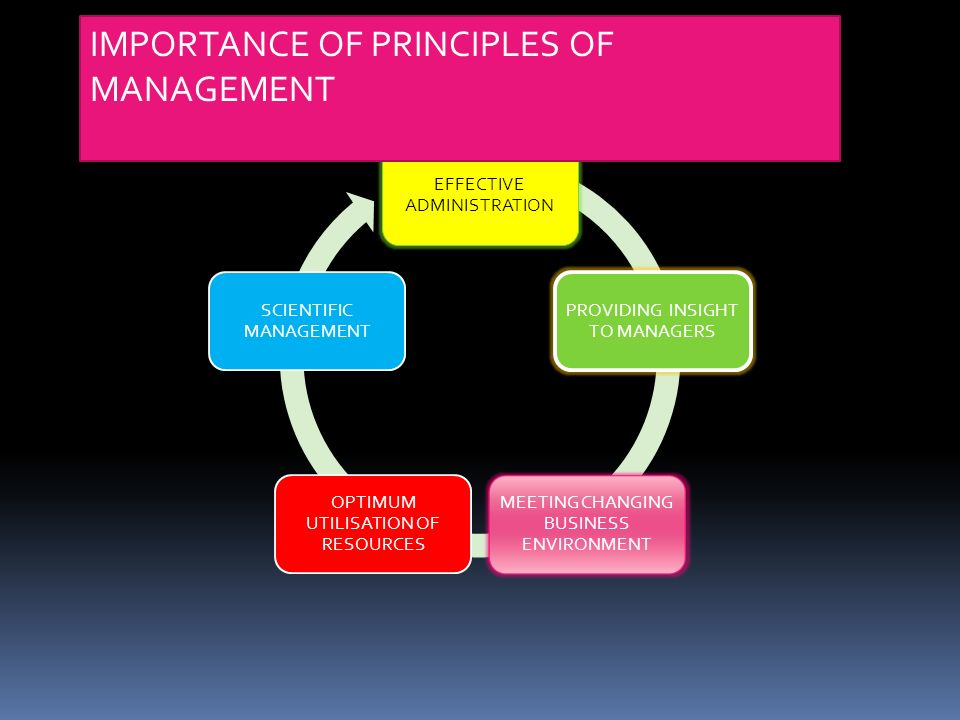 principles of managers and management Introduction to management and leadership concepts, principles, and practices ing little that managers at all levels in an organization do falls outside the purview of the five management functions.
